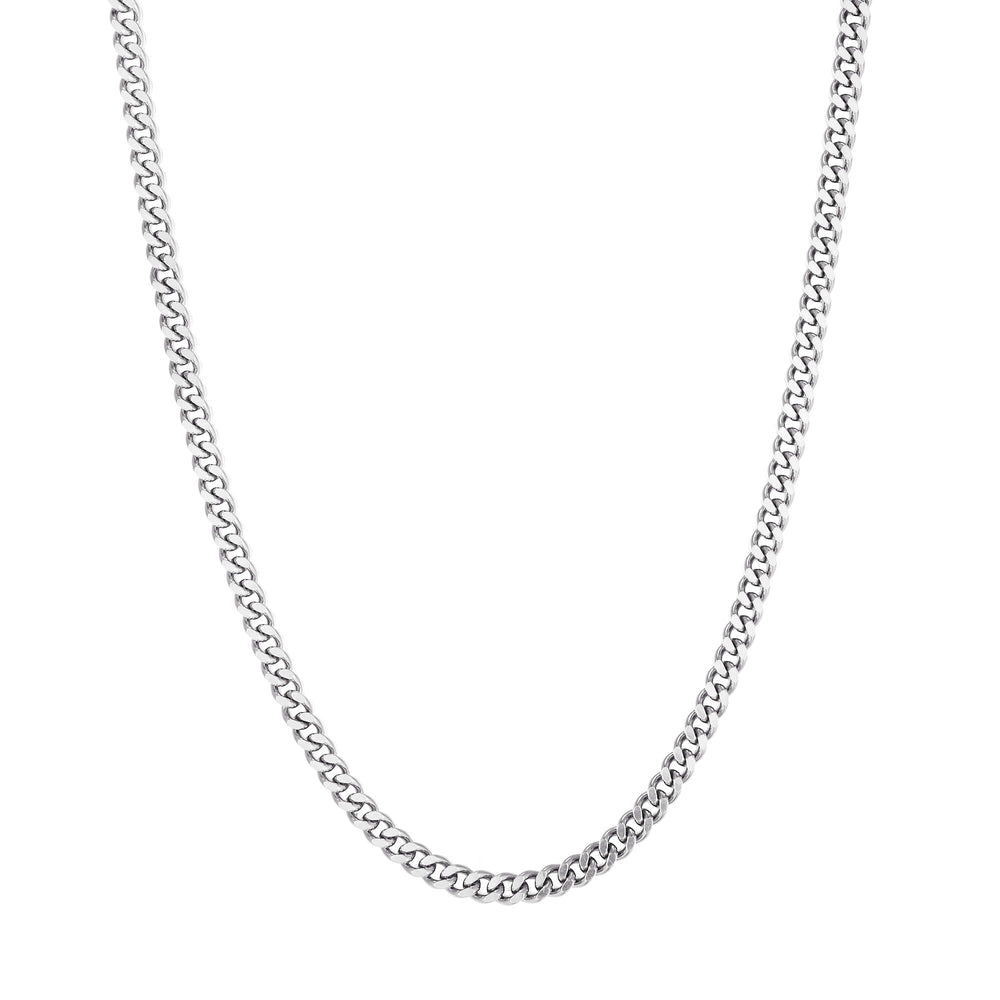 silver curb chain necklace - seol gold
