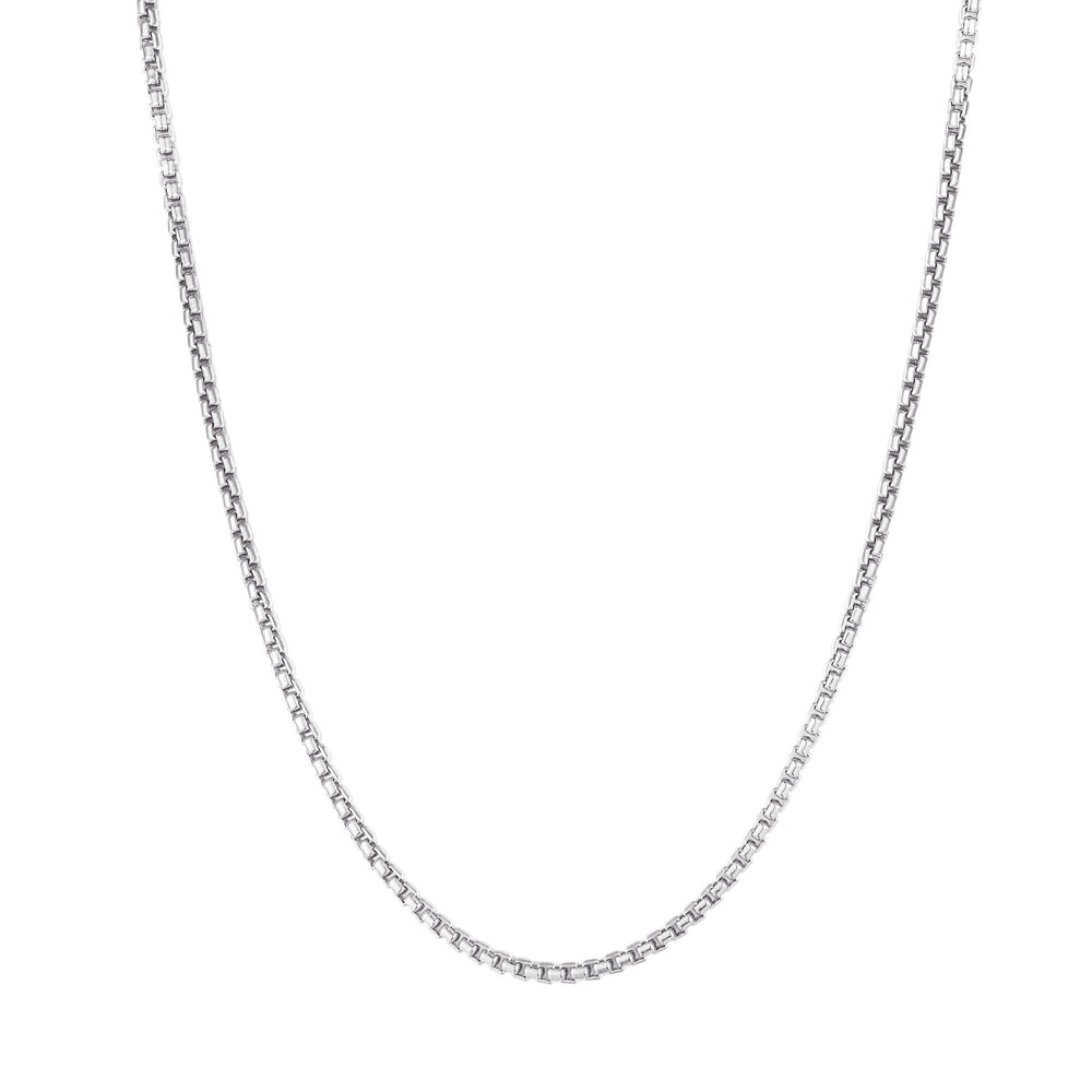 silver chain necklace - seol gold