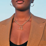 tbar necklace -seol gold