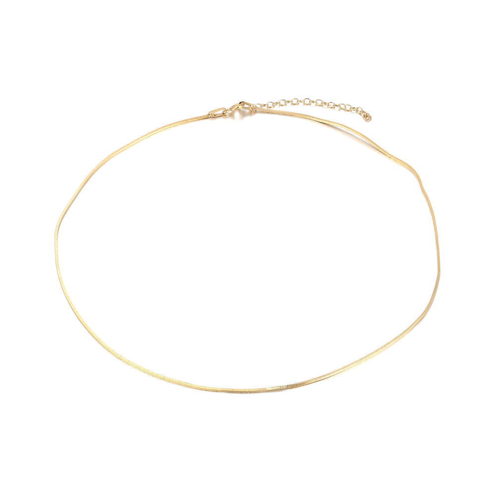 Gold square Snake Chain - seol-gold