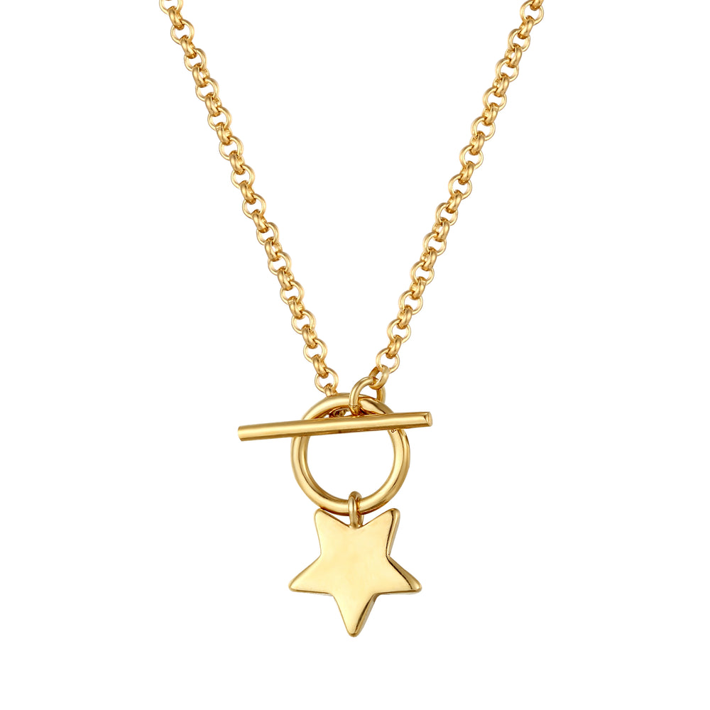 gold star necklace - seol-gold