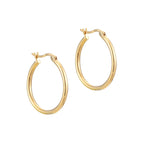 Round Large Creole Hoop Earrings