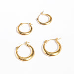 Curved Creole Hoops - seol-gold