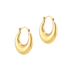 chunky gold hoops - seolgold