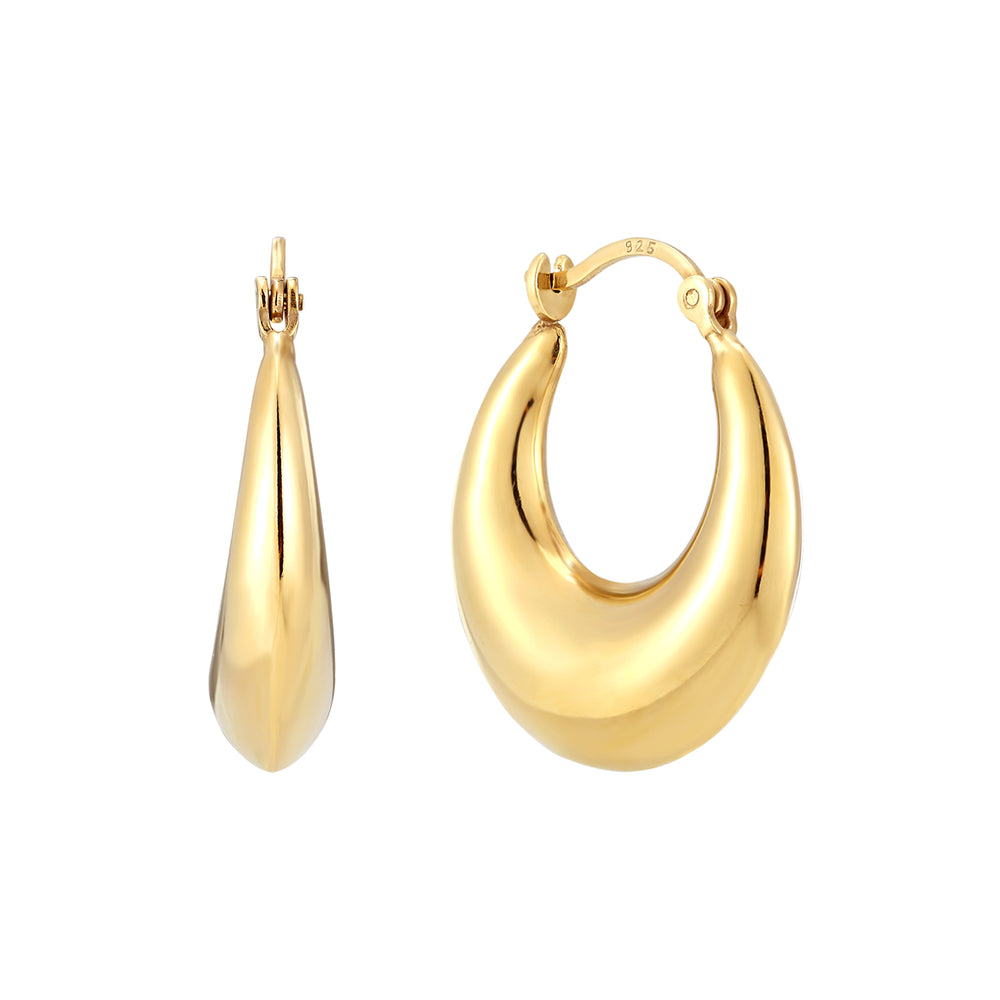 Gold Hoop Earrings - seol-gold