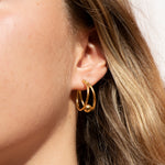 gold creole earrings - seol-gold