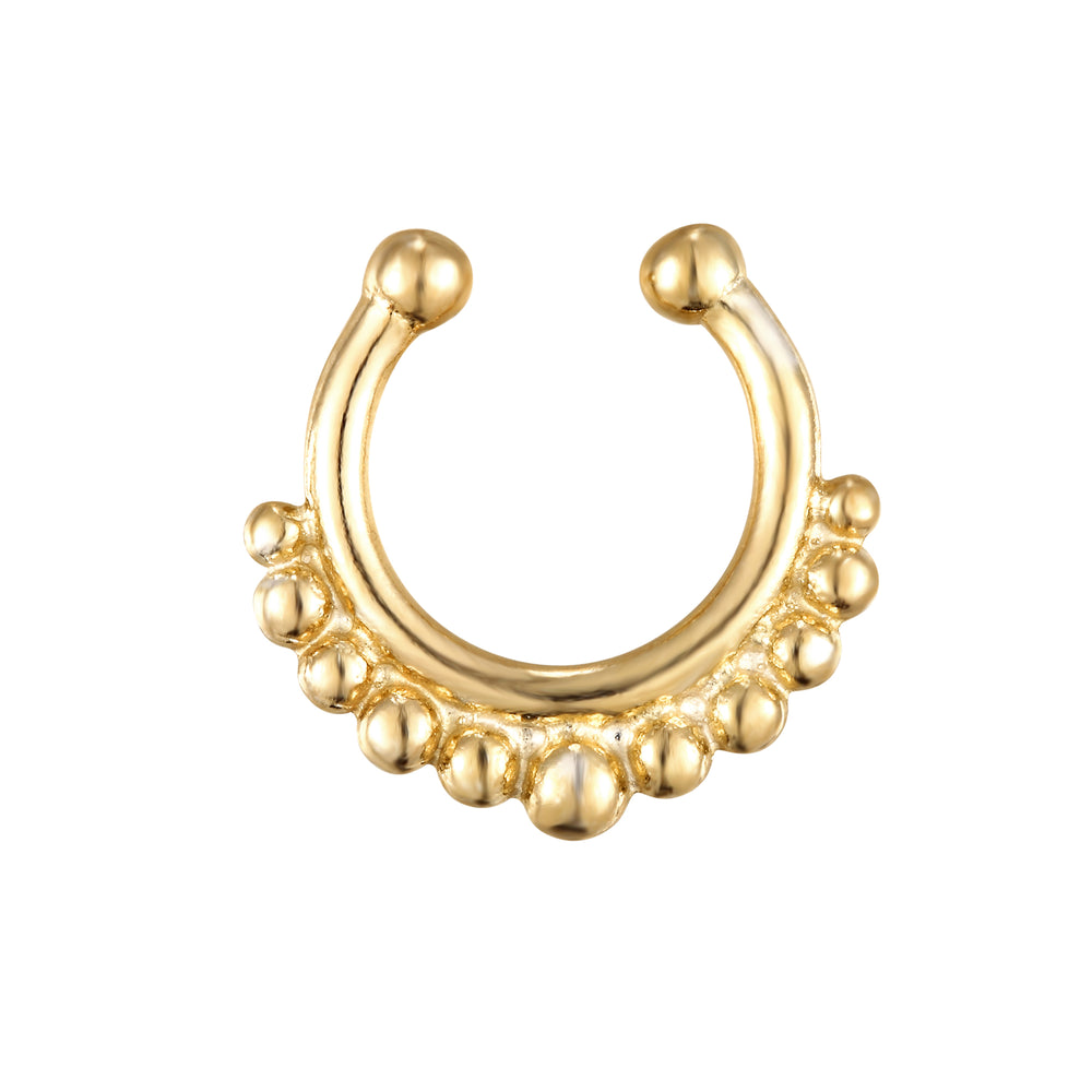 Bead Dotted Faux Septum Cuff