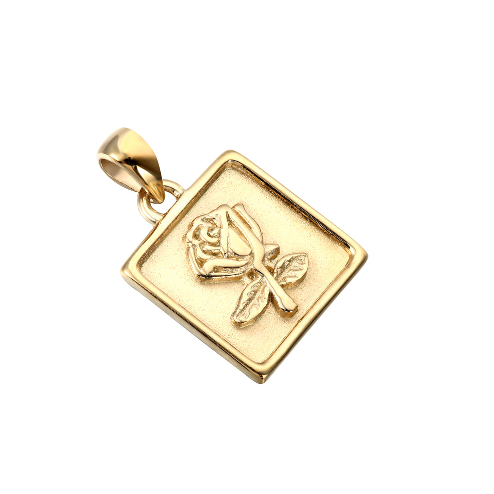 Rose Medallion Pendant