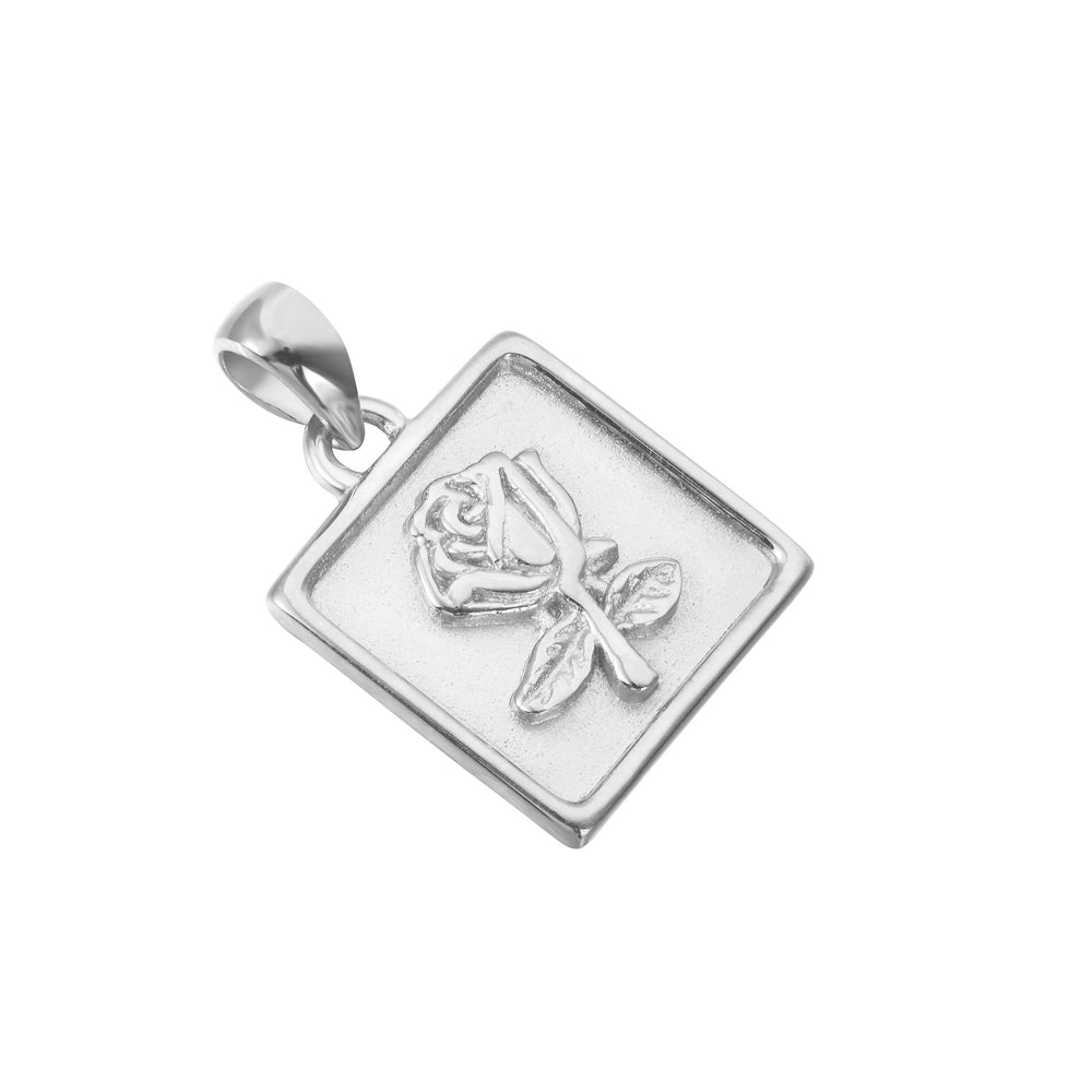 silver rose charm - seolgold