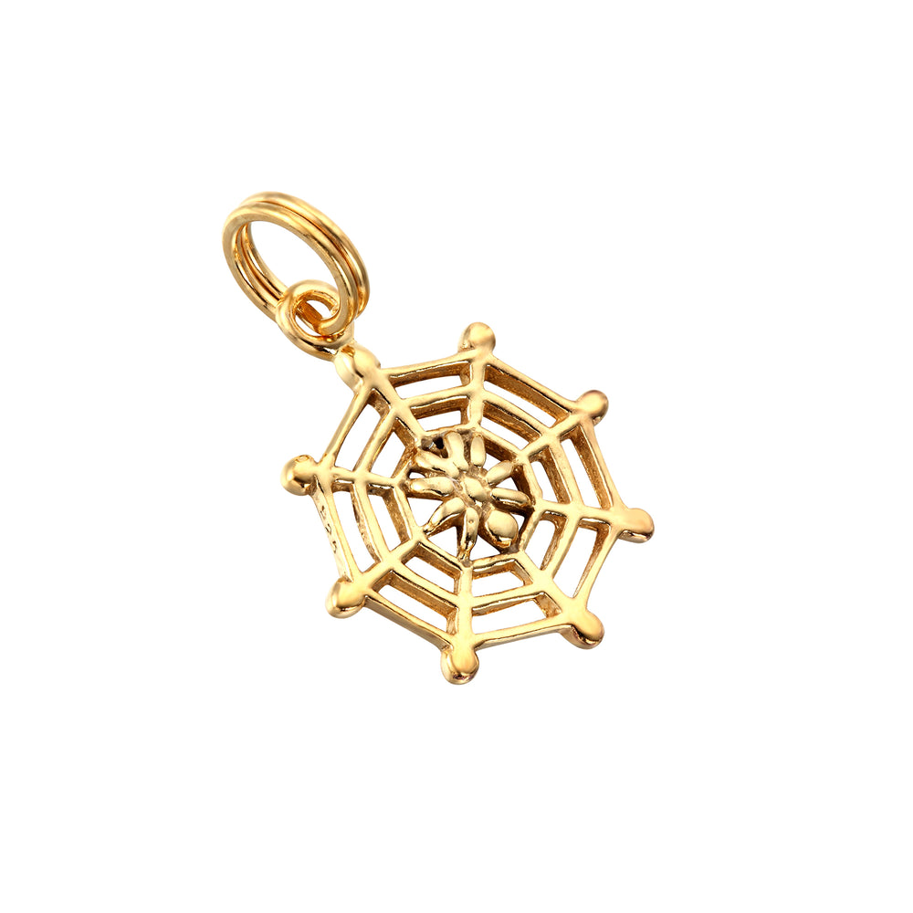 Spider web charm - seol-gold