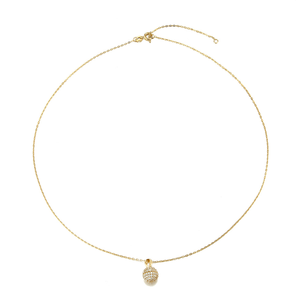 Pave Sphere Necklace