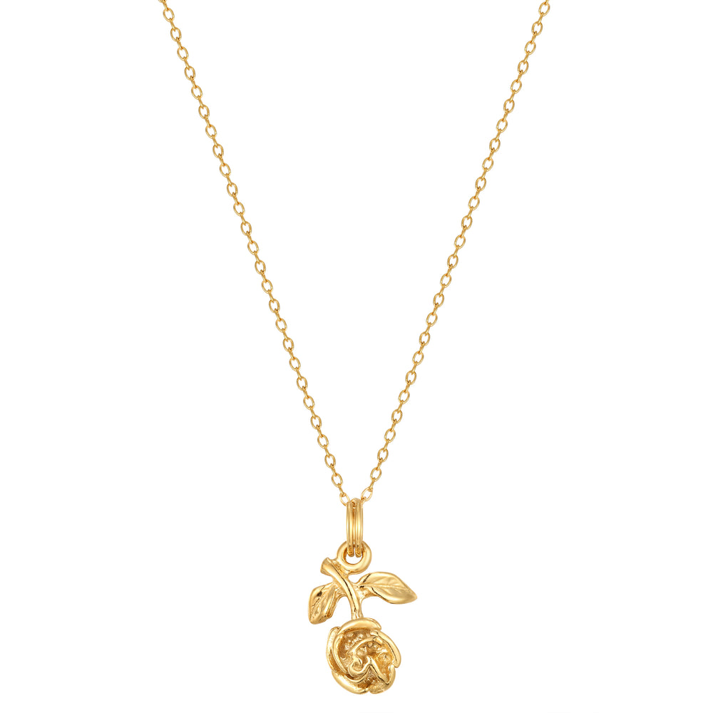 Gold rose pendant -seol gold