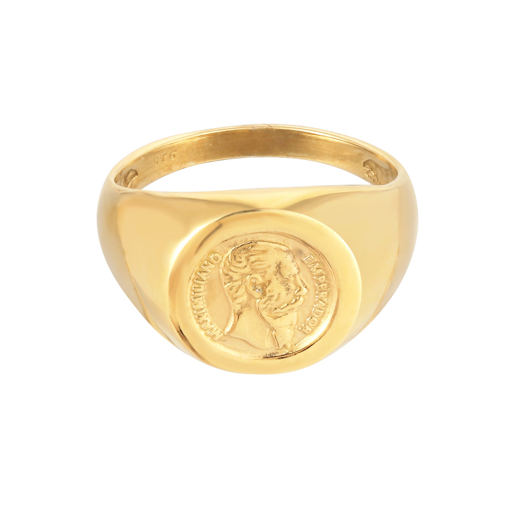 gold medal signet Ring - seol-gold