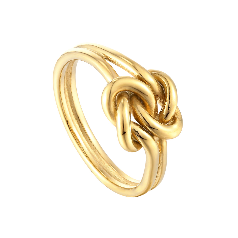 Twisted Knot - gold Ring - seol-gold