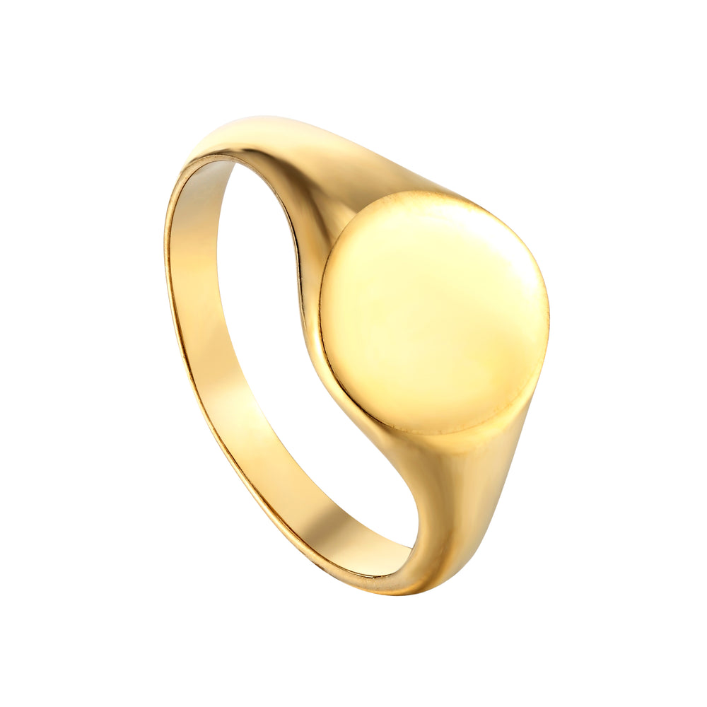 signet ring - gold signet ring - seolgold