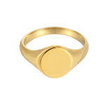 gold signet ring -seol gold