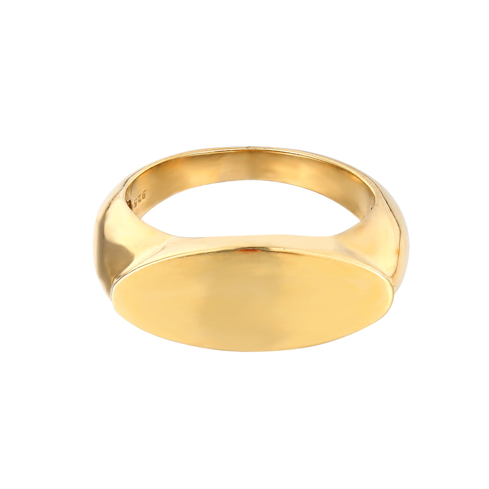 seolgold - signet bar ring