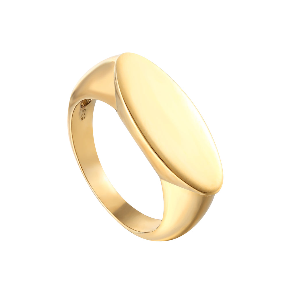 Oval Bar Signet Ring