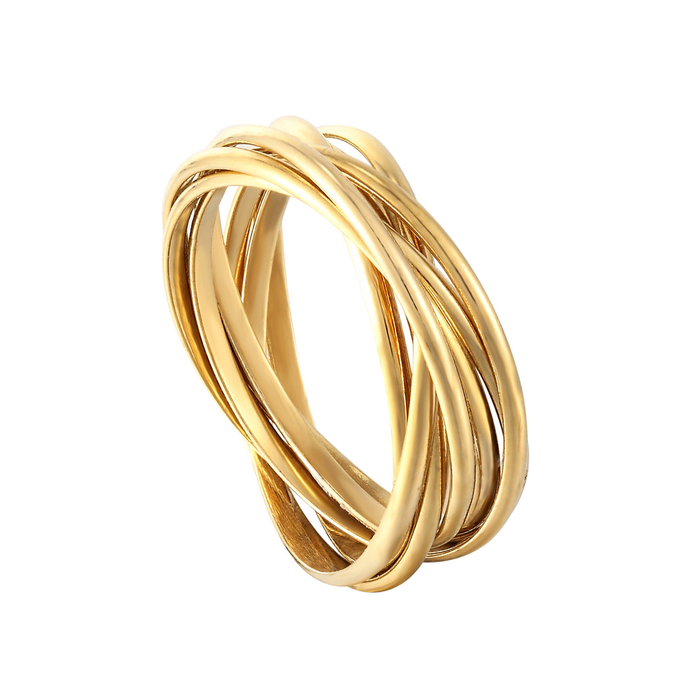 gold russian band ring - seolgold