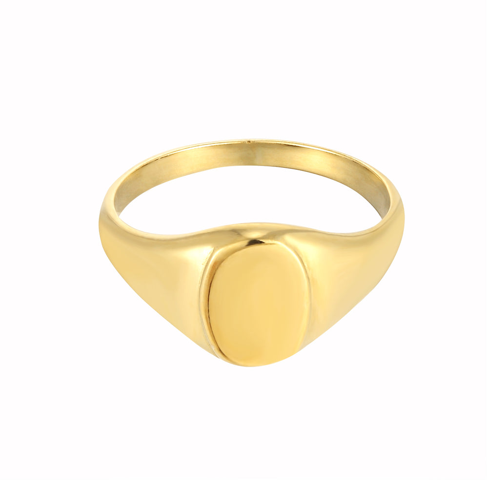 Oval Signet Ring - seol-gold