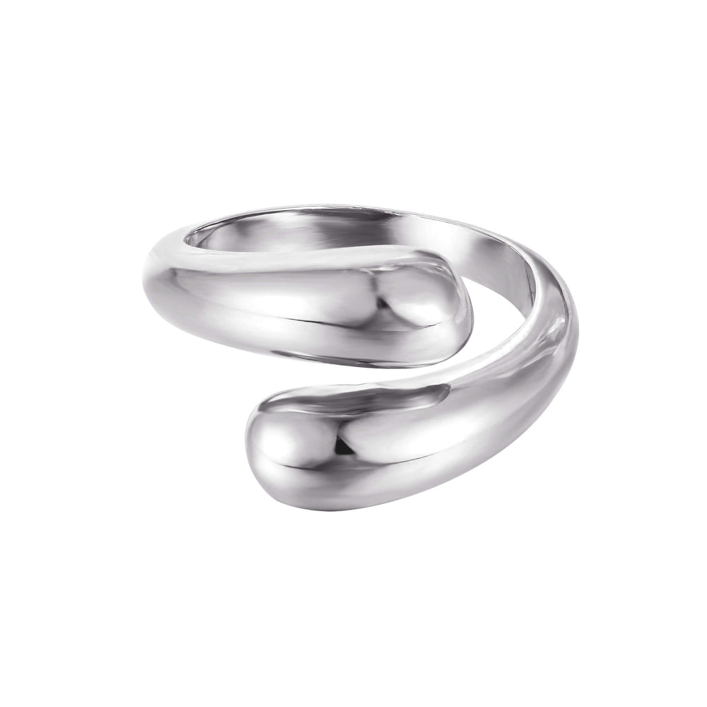 silver open ring - seol-gold