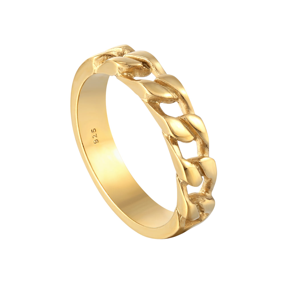 gold chain ring - seolgold