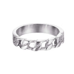silver chain ring - seol-gold