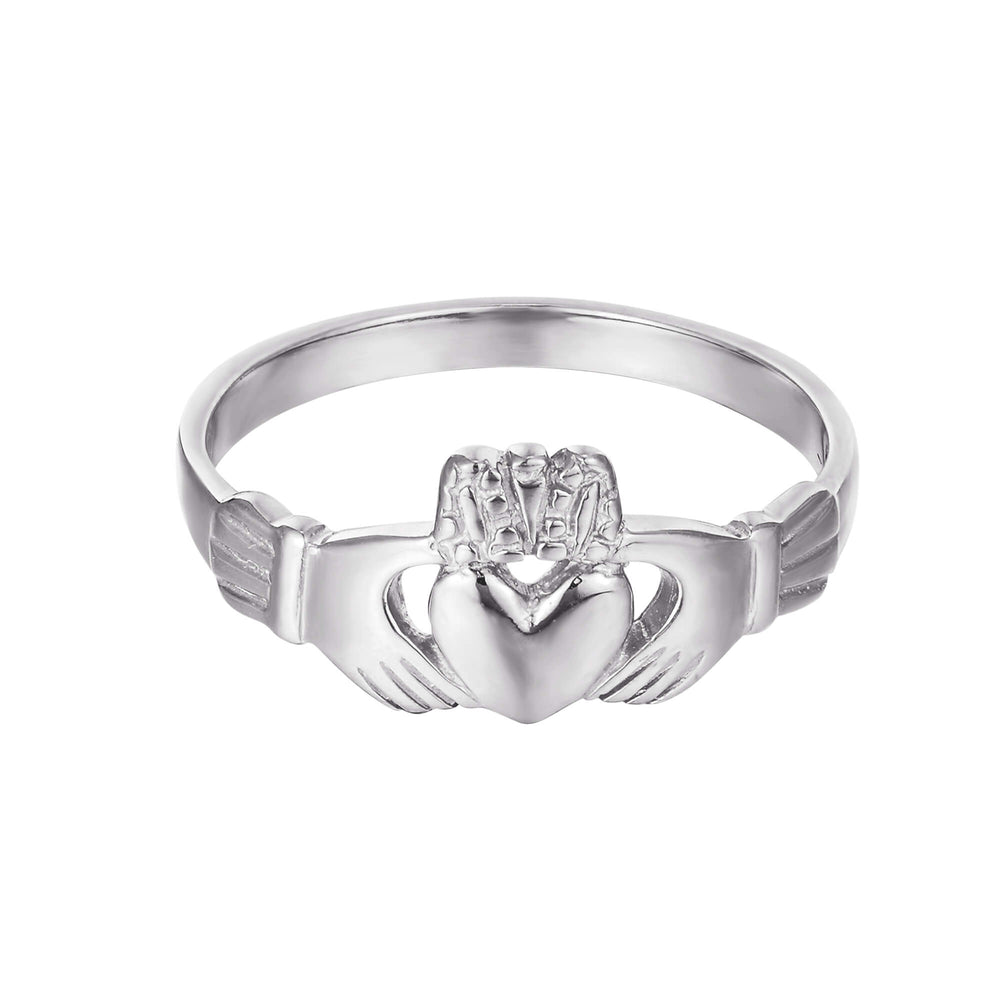 silver claddagh ring - seolgold
