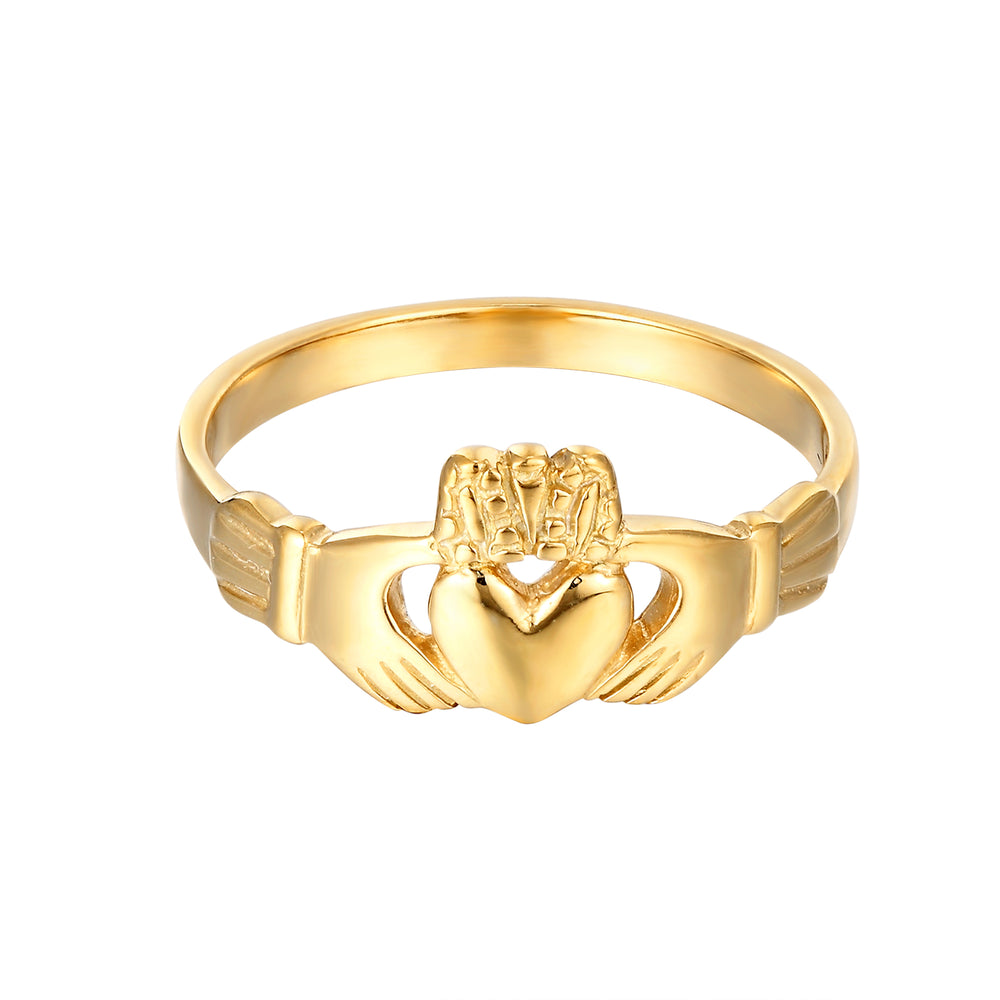 gold claddagh ring - seolgold