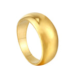 gold cigar band ring - seolgold