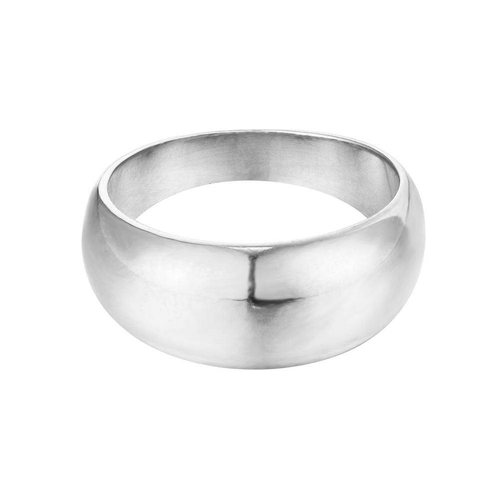 silver domed ring - seol gold