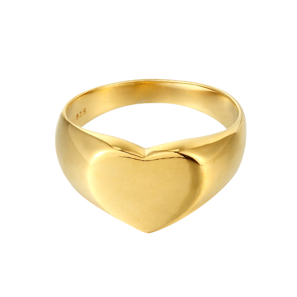 gold heart ring - seolgold