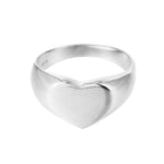 silver heart ring - seolgold