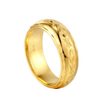 gold engraved cigar ring - seolgold