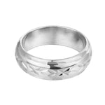 silver engraved ring - seolgold
