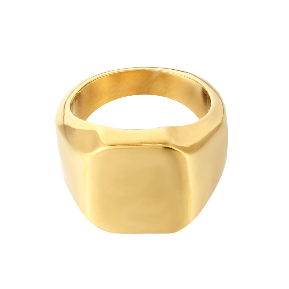 gold signet ring - seol gold