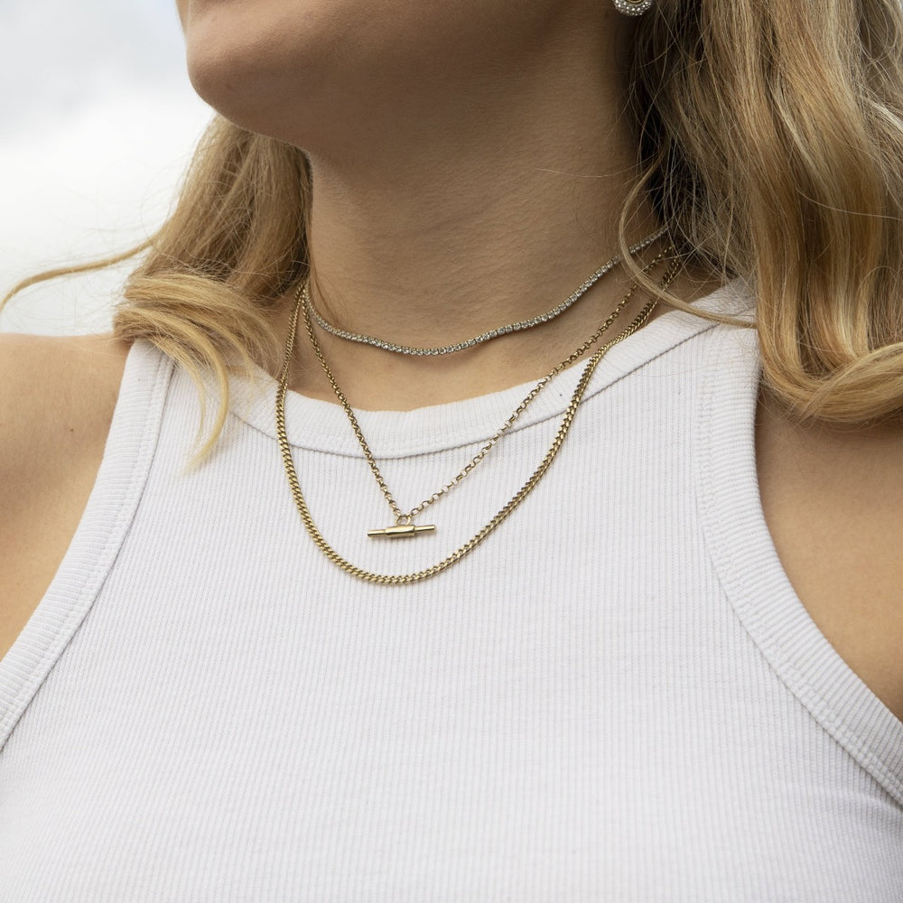 tbar chain necklace - seol gold
