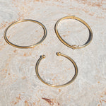 plain silver bangle - seol-gold