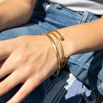 Chunky rounded bangle