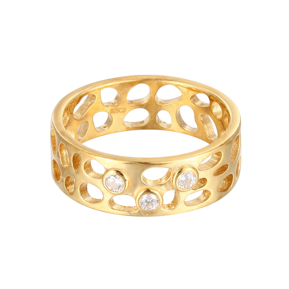 chunky gold ring - seolgold