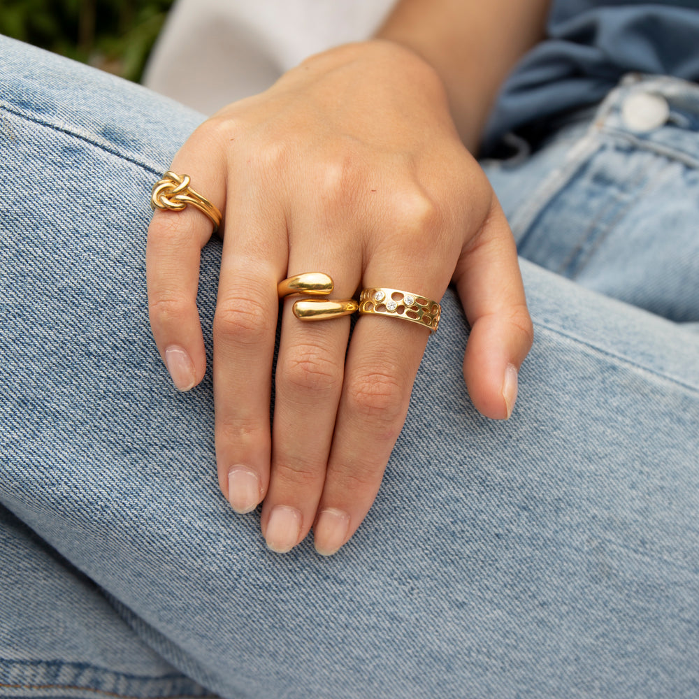 Chunky Twist Ring - seol-gold