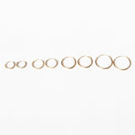 9ct Gold Plain Hoops - seol-gold