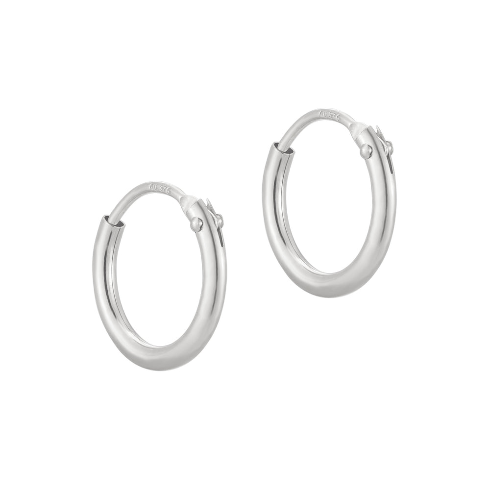 tiny silver cartilage hoops - seolgold