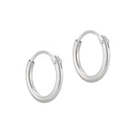 Sterling Silver Plain Hoops