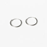 silver hoop earrings - seol-gold