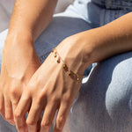 Tiny gold disc bracelet - seol-gold