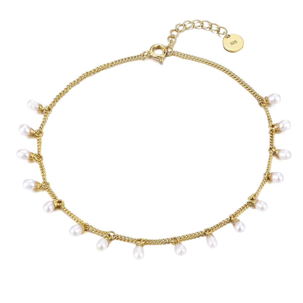 Pearl Bead Charm Anklet