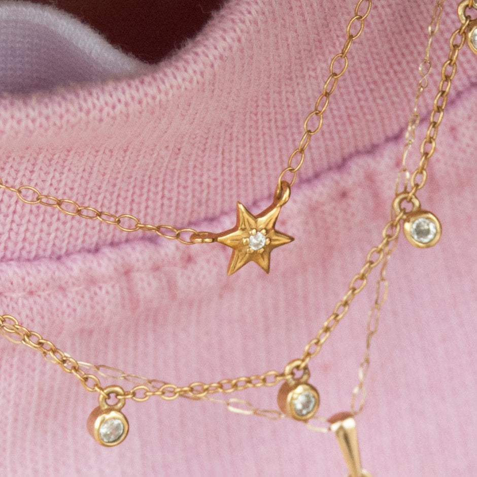 Baby North Star Necklace - seol-gold