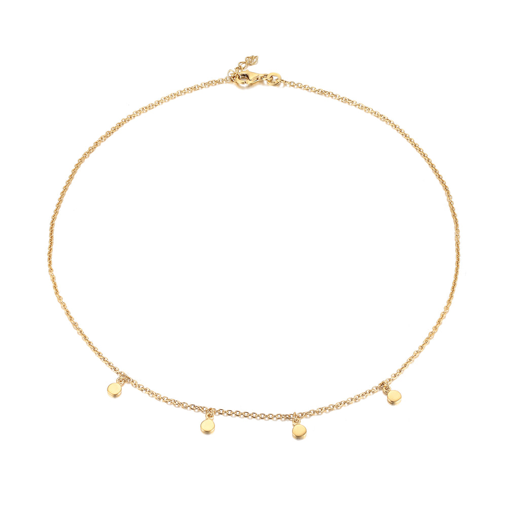 Disc Charm Necklace - seol-gold