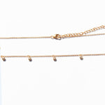 Tiny CZ Bezel Drop Choker Necklace - seol-gold